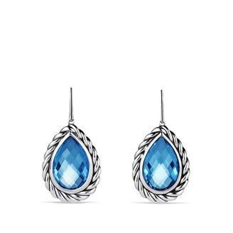 David Yurman Color Classics Drop Earrings with Blue Topaz