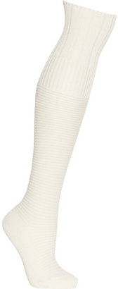 Falke Ribbed cotton-blend knee socks