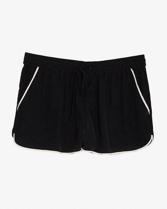 Joie Contrast Trim Retro Silk Shorts