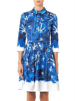 Oscar de la Renta Dégradé cotton dress