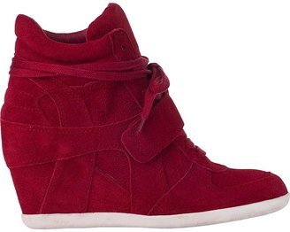 Ash Bowie Wedge Sneaker Stone Suede