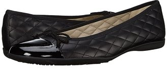 French Sole PassportR Flat (Black Patent/Black Leather) Women's Dress Flat Shoes
