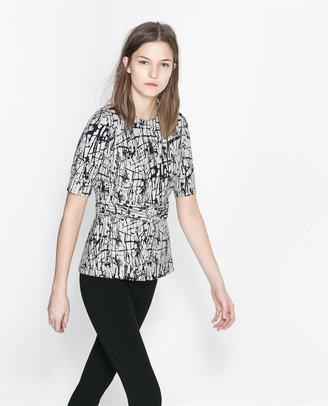 Zara Peplum Top