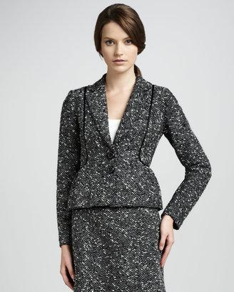 Nanette Lepore Baroness Tweed Peplum Jacket