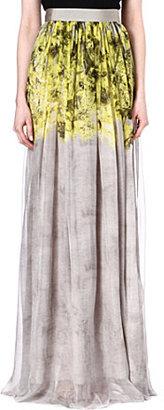Giambattista Valli Silk flower print maxi skirt