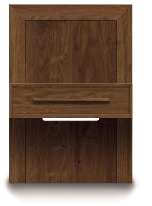Copeland Furniture Moduluxe 35-Inch Box Nightstand For Storage Base Bed