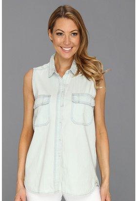 Calvin Klein Jeans Vintage Shirting Top (Indigo) - Apparel