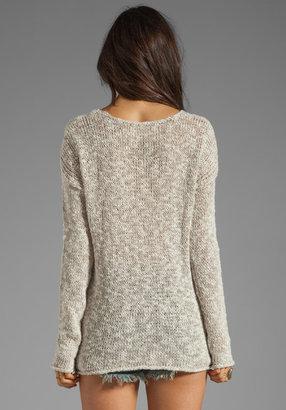 Velvet by Graham & Spencer x Lily Aldridge Saffron Marled Linen Sweater