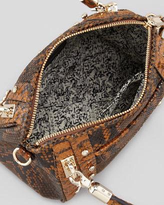 Rebecca Minkoff Cupid Mini Snake-Print Satchel Bag, Blonde