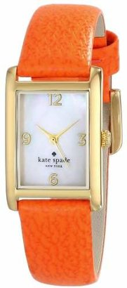 Kate Spade Women's 1YRU0189 Cooper Gold-Tone Watch with Leather Strap