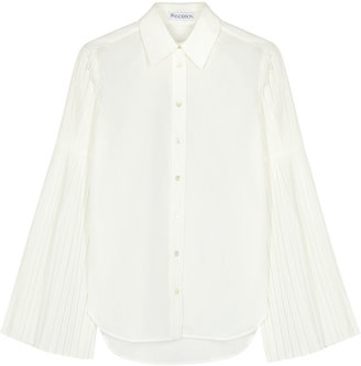 J.W.Anderson Ivory Pleated-sleeve Shirt