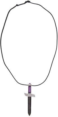 Gavello Diamond Dagger Pendant Necklace