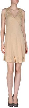 Gold Case Short dress