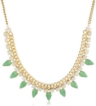 Yochi Design Yochi Green Navette Necklace, 18""