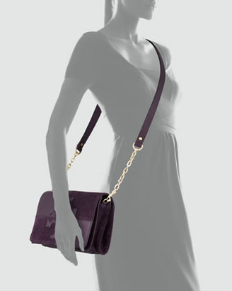 Tory Burch Natalie Suede & Leather Crossbody Bag, Plum