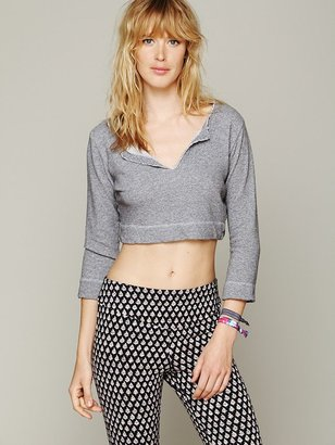 So Low Solow Sport French Terry Cropped Pullover