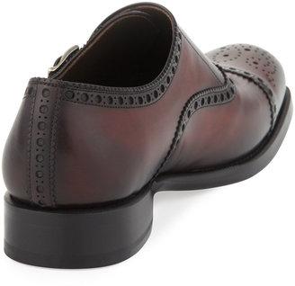 Bergdorf Goodman Hand-Antiqued Single Monk Strap Loafer