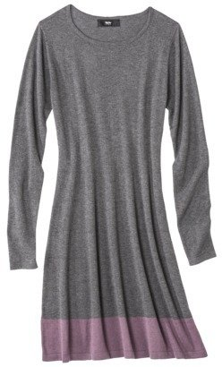 Mossimo Petites Long-Sleeve Colorblock Sweater Dress - Assorted Colors