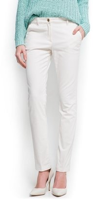 MANGO Outlet Straight-Leg Cotton Trousers
