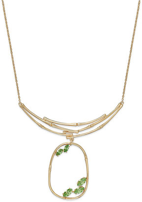 SIS by Simone I Smith 18k Gold over Sterling Silver Necklace, Green Crystal Pendant (3/8 ct. t.w.)