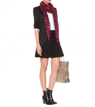 Alexander McQueen CASHMERE-SILK SKULL AND ANIMAL PRINT SCARF
