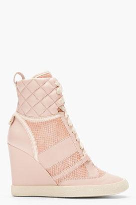 Chloé Pink snakeskin Wedge Sneakers