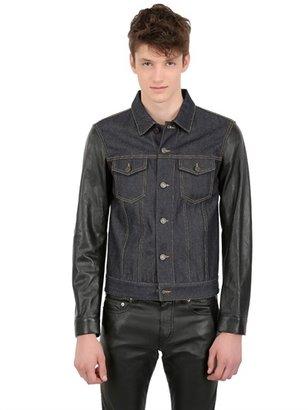 Saint Laurent Denim & Leather Jacket