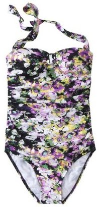 Sara Blakely ASSETS® By A Spanx® Brand Women's 1-Piece Swimsuit -Floral Print