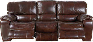 Rooms To Go Sanderson Walnut Leather Power Sofa