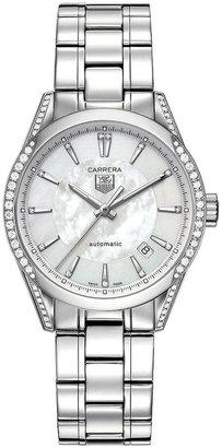 Tag Heuer Watch, Women's Automatic Carrera Diamond (5/8 ct. t.w.) Stainless Steel Bracelet 36mm WV2212.BA0798