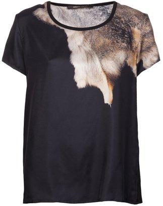 Roberto Cavalli fur print t-shirt