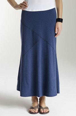 J. Jill Pima striped seamed skirt