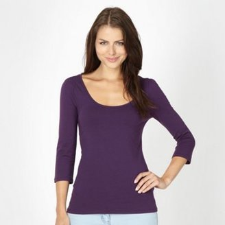 Red Herring Purple three quarter scoop top