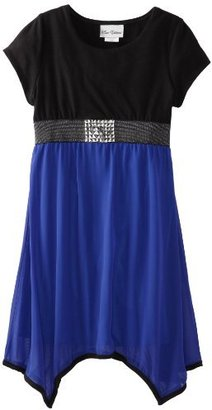 Rare Editions Big Girls' Plus Size Knit To Chiffon Dress