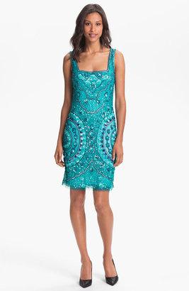 Aidan Mattox Sleeveless Sequin Tulle Dress