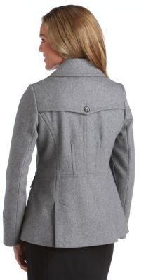 DKNY Zip Pocket Pea Coat