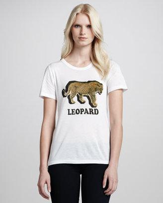 PJK Leopard Crewneck Tee, White (Stylist Pick!)