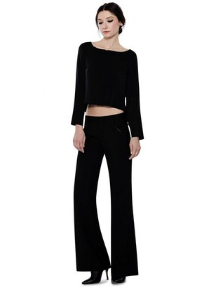 Alice + Olivia Fleece Wool Olivia Pant