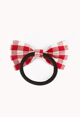 Forever 21 Gingham Bow Hair Elastic