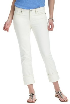 LOFT Petite Modern Straight Cuffed Cropped Jeans in Natural Wash