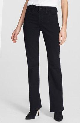 NYDJ 'Barbara' Stretch Bootcut Jeans (Black) (Petite)