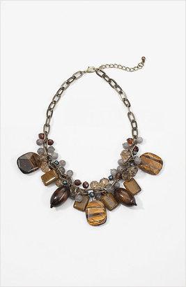 J. Jill Short beaded goldtone necklace