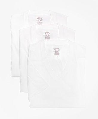 Brooks Brothers Supima Cotton V-Neck Undershirt - Three Pack