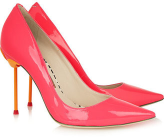 Webster Sophia Coco neon patent-leather pumps