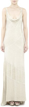 Nicole Miller Ivory Beaded One-of-a-Kind Gown