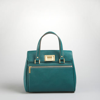 Jones New York Park Avenue Small Leather Satchel