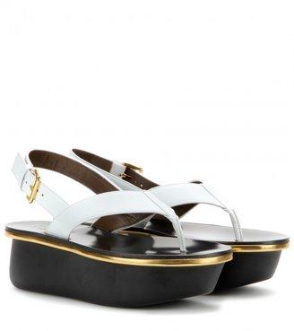 Marni Leather platform sandals