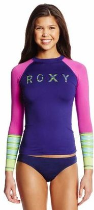 Roxy Juniors' Perfect Stripe Long-Sleeve Rash Guard $15.62 thestylecure.com