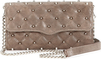 Rebecca Minkoff Quilted Stud Wallet On A Chain