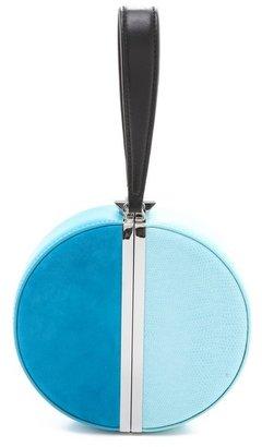 Diane von Furstenberg Circle Box Colorblock Clutch